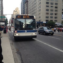 Photo taken at MTA Bus - 7 Av & W 57 St (M/31M57/X12/X14/X30/X42) by Chuck A. on 7/31/2012