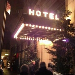 Photo taken at Ace Hotel Lobby Bar by Matt P. on 1/21/2012