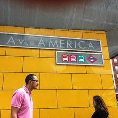 Photo taken at Metro Avenida de América by V B G on 6/8/2012