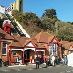 Photo taken at Folkestone Leas Lift by Andrew M. on 2/25/2012