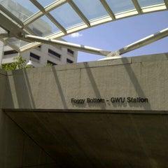 Photo taken at Foggy Bottom-GWU Metro Station by Moni on 8/16/2012