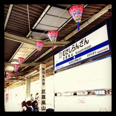 Photo taken at 武蔵嵐山駅 (Musashi-Ranzan Sta.) (TJ32) by Yuh I. on 4/8/2012