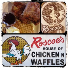 Photo taken at Roscoe's House of Chicken and Waffles by Pommy J. on 6/12/2012