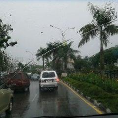 Photo taken at Jalan Jenderal Sudirman by Eddie S. on 12/24/2011