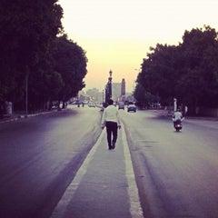 Photo taken at El Kasr El Aini St | شارع القصر العيني by Abdullah N. on 9/3/2012