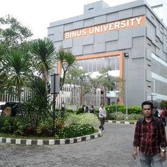 Photo taken at BINUS University by Erwin R. on 12/17/2011
