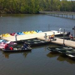 Photo taken at Lake Johnson by @ExploreRaleigh on 4/14/2012