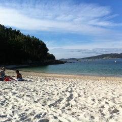 Photo taken at Praia de Castiñeiras by Johnny F. on 7/12/2012