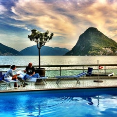 Photo taken at Hotel Lido Seegarten Lugano by Sascha W. on 5/25/2011