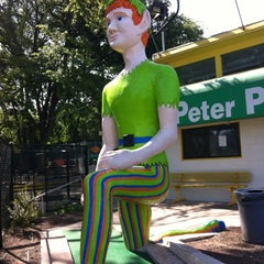 Photo taken at Peter Pan Mini Golf by Laura C. on 7/21/2012