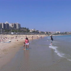 Photo taken at Platja del Miracle by Alberto C. on 5/27/2012