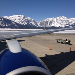 Photo taken at Jackson Hole Airport (JAC) by Marc S. on 3/10/2012