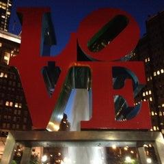 Photo taken at JFK Plaza / Love Park by Erin M. on 7/26/2012