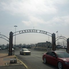 Photo taken at Canarsie Pier by Bob D. on 3/18/2012