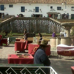 Photo taken at Plaza de San Blas by Vanessa C. on 7/7/2012