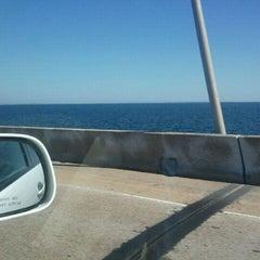 Photo taken at Three Mile Bridge by Tina B. on 10/17/2011