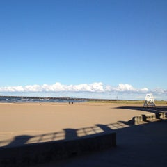 Photo taken at 63rd Street Beach by Amy B. on 9/10/2012