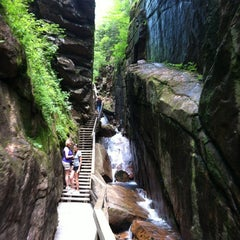 Photo taken at Flume Gorge by Sharon Z. on 8/12/2012