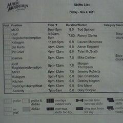 Photo taken at Magic Mountain Fun Center by Aaron E. on 11/4/2011