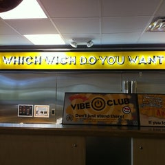Photo taken at Which Wich? Superior Sandwiches by David P. on 8/30/2011