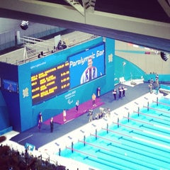 Photo taken at London 2012 Aquatics Centre by James Y. on 9/5/2012