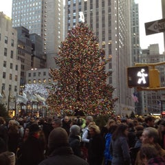 Photo taken at Rockefeller Center Christmas Tree by Dennis P. on 12/10/2011