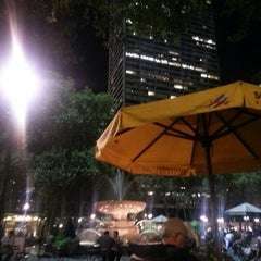 Photo taken at Southwest Porch at Bryant Park by Lindsey P. on 9/6/2012