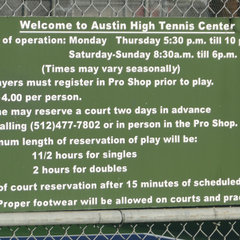 Photo taken at Austin High Tennis Center by ATX T. on 6/5/2012