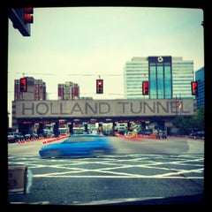 Photo taken at Holland Tunnel Toll Plaza by Neil A. on 9/6/2012