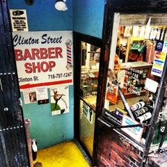 Photo taken at Clinton Street Barbershop by Steve T. on 9/8/2012