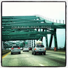 Photo taken at Piscataqua River Bridge by Amy H. on 8/18/2012