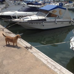 Photo taken at Club Nautico Sant Carles de la Rapita by Judit on 7/25/2012