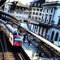 Photo taken at Bahnhof Zürich Stadelhofen by Cesar M. on 4/6/2012