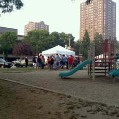 Photo taken at Cathedral Square Park by Andrew H. on 9/13/2011