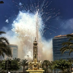 Photo taken at Plaza de Los Luceros by Xavier M. on 6/21/2012