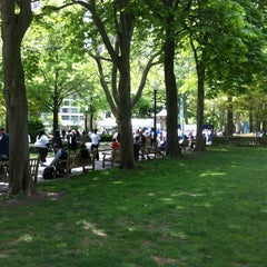 Photo taken at Rittenhouse Square by Will G. on 4/25/2012