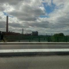 Photo taken at Hunts Falls Bridge by Josh H. on 4/27/2012