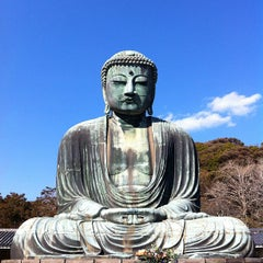 Photo taken at 鎌倉大仏 (Great Buddha of Kamakura) by ykr_gnn on 2/12/2012