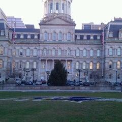 Photo taken at Baltimore City Hall by Matthew H. on 1/6/2012