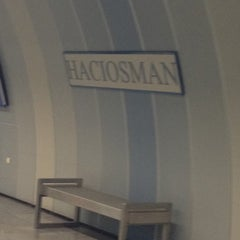 Photo taken at Hacıosman Metro İstasyonu by Mücahit T. on 3/31/2012