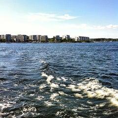 Photo taken at Gåshaga Marina by Lars J. on 5/19/2012