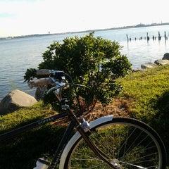 Photo taken at Shore Haven bikepath by Kris R. on 9/11/2012