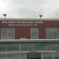 Photo taken at Boeing Field/King County International Airport (BFI) by Christina L. on 7/23/2012