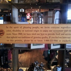 Photo taken at Cracker Barrel Old Country Store by Adam L. on 3/15/2012