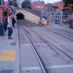 Photo taken at MUNI Metro Stop - Sunset Tunnel East Portal by Adam S. on 1/19/2012