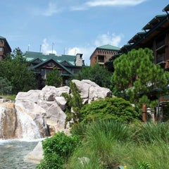 Photo taken at Disney's Wilderness Lodge by Jessica M. on 7/19/2012
