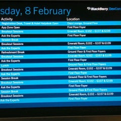 Photo taken at BlackBerry DevCon Europe at the Amsterdam RAI Convention Centre by Andy B. on 2/8/2012