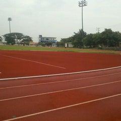 Photo taken at Unidad Deportiva by Solveyg K. on 8/31/2011