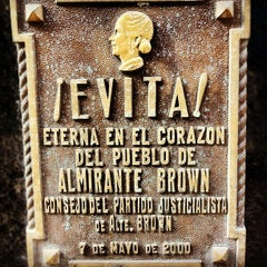 Photo taken at Eva Peron's Grave by Mark S. on 4/11/2012