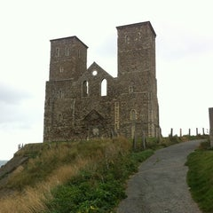 Photo taken at Reculver Towers and Roman Fort by Benoit P. on 11/1/2011